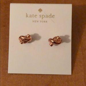 Rose Gold Kate Spade Earrings